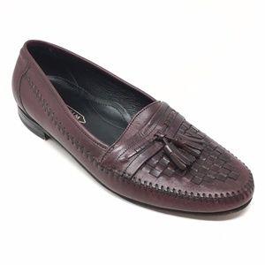 Men's Florsheim Loafers Dress Shoes Sz 9D Burgundy